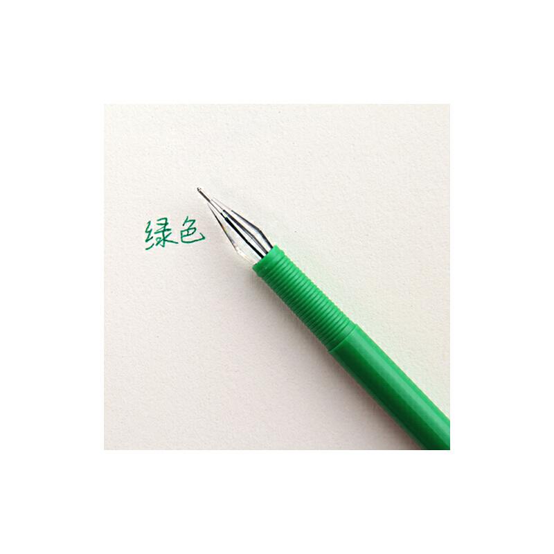 umi彩色中性笔 水笔 韩国文具可爱签字笔 黑笔彩笔 糖果水性笔_绿色