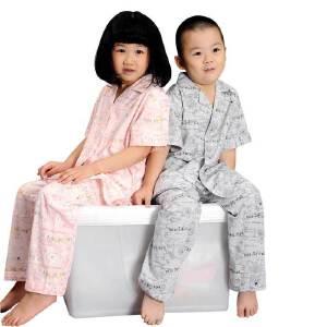金丰田夏儿童家居服 儿童节礼品 可爱卡通儿童休闲短袖睡衣套装1566