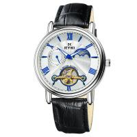 2017新款 EYKI艾奇 潮流时尚男士手表 全自动机械表 镂空简约表盘 时尚大气皮带手表 8685