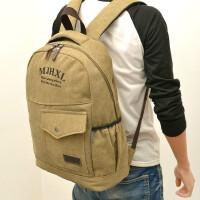 旅行包帆布包男包女包双肩包英伦风时尚书包14 15寸电脑背包