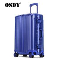 【可礼品卡支付】OSDY新款铝镁合金拉杆箱高档全金属旅行箱24寸托运箱防撞防刮硬箱