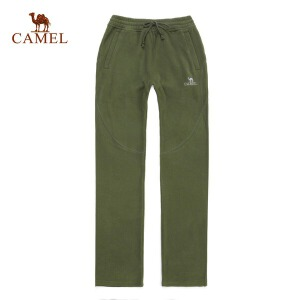camel骆驼户外抓绒裤 运动休闲情侣款 加厚抓绒裤 软壳裤
