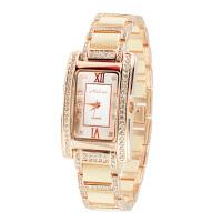 玛丽莎(Melissa) 方形镶嵌水晶石英表 奢华时尚女陶瓷手表时装表女表6549