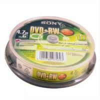 索尼SONY光盘 DVD+RW 10片桶装 可重复擦写刻录盘