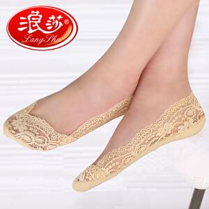 【5双送1双】夏季新款浪莎隐形船袜女防滑硅胶 浅口夏季薄款短丝袜超薄短袜子 隐形袜女