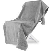 [当当自营]三利 A类加厚长绒棉 缎边大浴巾 纯棉吸水 柔软舒适 带挂绳 婴儿可用 银灰色
