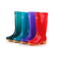 女士高筒雨靴时尚雨鞋可脱卸加绒雨靴套鞋水鞋防滑平底防水水靴