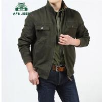 战地吉普AFS JEEP男士两面穿夹克 男装水洗纯棉立领夹克 男士秋冬双面穿夹克衫休闲外套