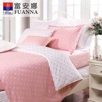 [当当自营]富安娜家纺纯棉四件套1.5米1.8米床印花套件 玻璃球 粉色 1.8m