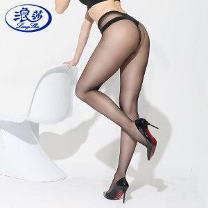 【2条装包邮】浪莎丝袜女士超薄款性感T裆包芯丝丝袜连裤袜 夏季薄爽百搭打底袜隐形透明丝袜