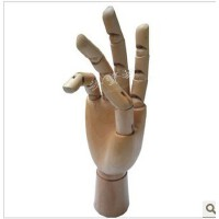 女手型木手模型(中号)素描 *美术用品 素描静物模型 漫画工具 手模