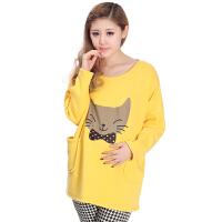 慈颜 春秋款韩版卡通时尚孕妇装 长袖上衣 孕妇卫衣WML0145