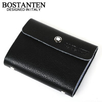 (可礼品卡支付)波斯丹顿 牛皮 卡包 26卡位 翻页 卡包/卡套B601