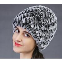 毛编织菠萝帽皮草帽子女冬时尚优雅保暖韩版獭兔女士帽子