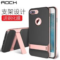 ROCK苹果iPhone7/7 Plus手机壳/莱斯保护套 4.7/5.5英寸硅胶壳/PC边框 苹果7手机套 苹果6s保护套 iPhone7手机壳【赠钢化膜】