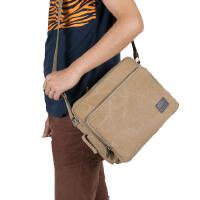 男包斜挎包帆布包复古潮包单肩包多口袋多功能随身小包