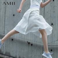 【AMII超级大牌日】[极简主义]2016圣马丁学院定制撞料拼接两件套半身裙11682266