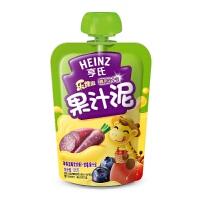 【当当自营】亨氏 Heinz果汁泥乐维滋-苹果蓝莓紫胡萝卜紫薯果汁泥(1-3岁)120g/袋 宝宝辅食