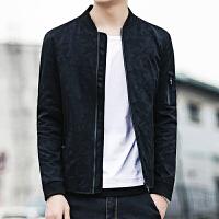 2015春季潮流男装休闲夹克青少年外套韩版修身立领男士印花夹克潮