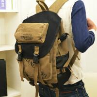 【支持礼品卡支付】旅行包韩版帆布包英伦风休闲双肩包14寸电脑包学院风书包
