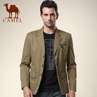 CAMEL 骆驼男装 休闲西服 男士时尚便西 大众棉质西装