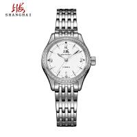 上海手表上海牌手表女士精钢钢带防水机械表潮流时尚镶钻女表668