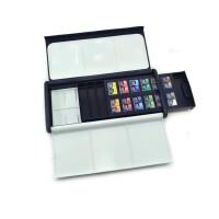 好吉森鹤温莎牛顿歌文Cotman半块固体水彩颜料套装+好颜料盒配套24色固体颜料绘画颜料-1套+送品633