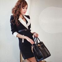 2016秋季新品女装 气质满分韩国热卖休闲长款长袖风衣外套