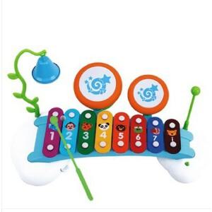 汇乐 启蒙彩虹八音琴 宝宝敲琴 儿童音乐玩具 敲鼓铃铛带乐谱