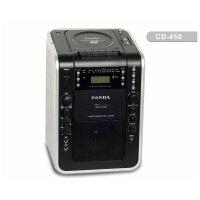 赠16G优盘!熊猫CD-450 教学扩音器 扩音机 DVD USB cd磁带复读机 麦克接口卡拉ok 可充电蓄电池广场机晨练机