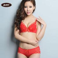 金丰田 夏季文胸套装 薄款蕾丝性感胸罩套装6040