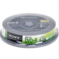 索尼SONY DVD+R 16X 10片桶装 刻录光盘.