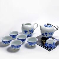 陶瓷故事 恒福 正宗景德镇釉下彩青花茶具套装 茶具八件套 茶壶茶杯