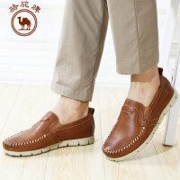 骆驼牌男鞋 头层牛皮商务休闲皮鞋春秋套脚男士鞋潮鞋