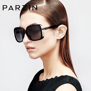 帕森 复古时尚偏光太阳镜 修脸大框新款女士大气偏光驾驶镜9257