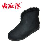 内联升 女鞋 棉鞋 布鞋 秋冬时尚女休闲棉鞋 老北京布鞋 6058C