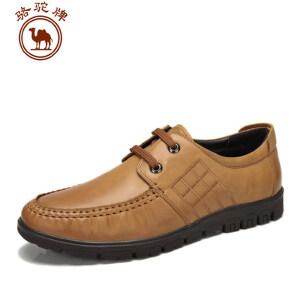 骆驼牌男鞋 头层牛皮 男鞋秋款鞋低帮鞋