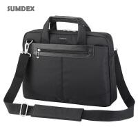 笔记本电脑包-美国森泰斯(SUMDEX)14寸笔记本包,通行者简约电脑公事包,单肩手提电脑包PON-326