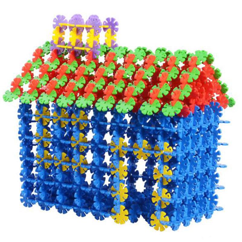 加厚雪花片 建构拼插塑料积木