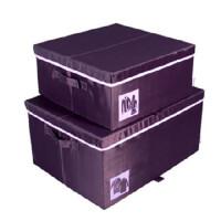 博纳屋 紫罗兰系列 牛津布衬衣收纳箱 有盖衣物储物箱 百纳箱 B149-29