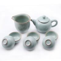 陶瓷故事 汝窑功夫茶具套装 开片套组 茶杯茶壶公道杯