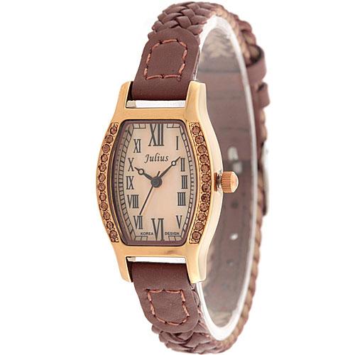 复古编织皮带女士手表