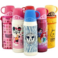 包邮!迪士尼 Disney  保温杯 600ML大容量保温壶 儿童水壶 小杯盖保温杯子 3501 配送杯套!