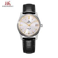 上海牌手表指针式 A623复刻限量版机械表 复古真皮皮带男表557-5