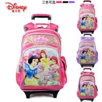 新品迪士尼公主儿童女生小学生拉杆书包女减负双肩背包可拆卸