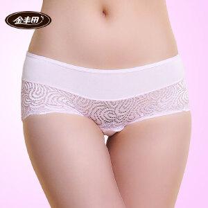 4条装 金丰田竹纤维女士性感时尚半透明内裤2220