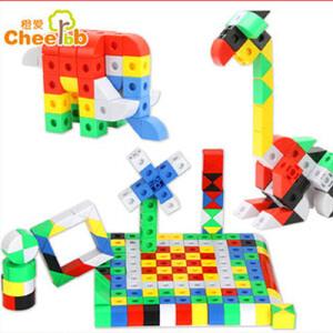 橙爱 小手创世界积木玩具 乐高式变形金刚机器人塑料拼插拆装积木益智儿童玩具