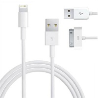 AllSkin苹果iPhone6 5S/5C/4S iPad4 mini 原装材质USB数据线充电线 Lightning Dock USB线 苹果5s 5c数据线iPad4数据线 mini数据线(兼容iPad2 3 touch4、nano6、classic)