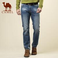 CAMEL 骆驼男装 夏装 时尚都市休闲牛仔裤 男士水洗长裤子