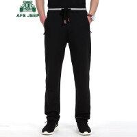 战地吉普AFS JEEP男士休闲裤 宽松纯色运动长裤男 男装春秋薄款健身跑步卫裤